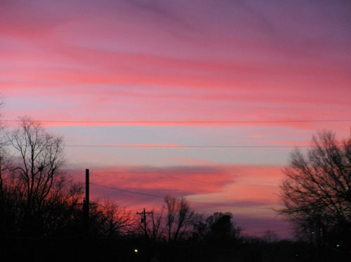 This December 2013 sunset made me grab my camera and swoon even as the sky flamed before it faded into night.