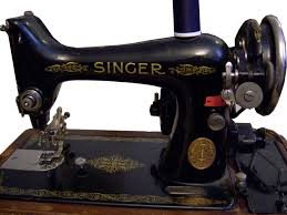 The early incarnation of the green185K was this Singer 99K--a basic black, sturdy and reliable sewing machine sold for decades.