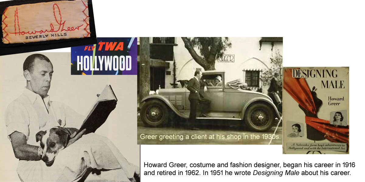 Howard Greer,designer of the TWA cutout uniforms worn 1944-1955
