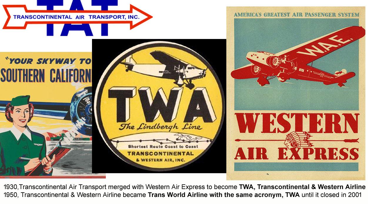 Mergers that created TWA