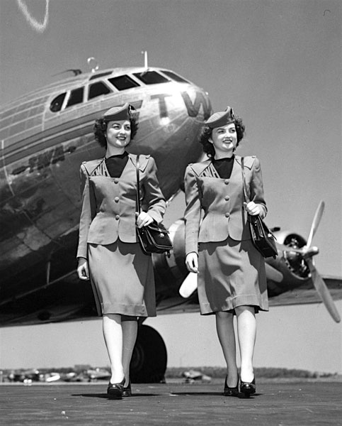 1944-1955 TWA Cut-out hostess uniforms