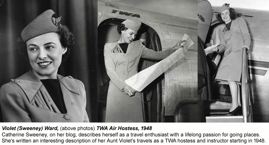 1948 TWA hostess