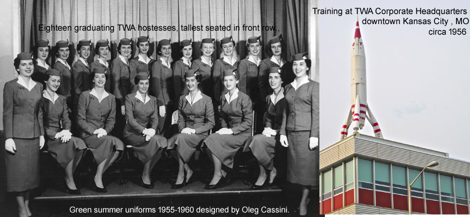 1956 TWA flight hhstess graduates